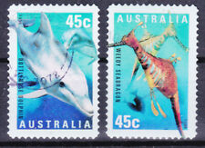 AUSTRALIA 1998 Marine life Dolphin Adhesive Yv 1716 and 1717 Used very fine