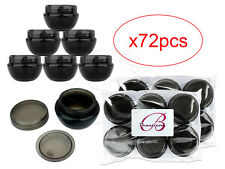 72 Pieces 10 Gram/10ml Black Round Frosted Sample Jars with Inner Liner and Lid