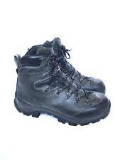 Garmont Black Gray Leather Vibram Hiking Boots Italy Made 42 Women 9.5 Men 8.5