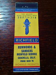 Vintage Matchcover: Richfield Oil & Gas Service Station, Coachella, CA  63