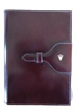 VINTAGE ROLEX BROWN LEATHER WRITING NOTE PAD HOLDER