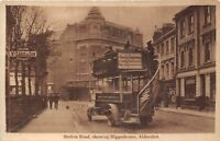 POSTCARD   HAMPSHIRE  ALDERSHOT  Station  Road  Showing Hippodrome  Omnibus  RP