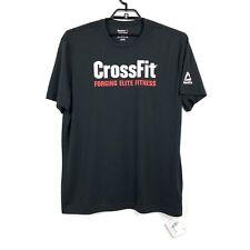 Reebok Crossfit Speedwick Mens T Shirt 2XL Black Forging Elite Fitness Workout
