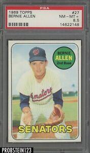 1969 Topps #27 Bernie Allen Washington Senators PSA 8.5 NM-MT+