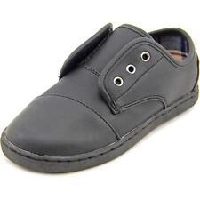 Scarpe sneakers nera in pelle per bambini dai 2 ai 16 anni