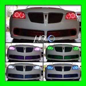2008-2009 ORACLE PONTIAC G8 COLORSHIFT LED LIGHT HEADLIGHT HALO KIT+REMOTE