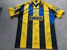 Everton DANKA Phelan (6) signed Match prepared/worn Away shirt mid 90s. Size XL