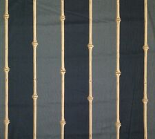 """CLARENCE HOUSE BAMBOO STRIPE GRAY CHARCOAL BEIGE VINTAGE FABRIC BY THE YARD 54""""W"""