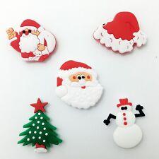 5pcs Fridge Magnet Christmas Tree/Cap Snowman Santa Clause Magnetic Sticker