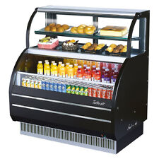 Turbo Air TOM-W-60SB, Black 62-inch Slim Line Dual Service Refrigerated Open Dis