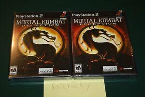 Mortal Kombat Deception (Playstation 2 PS2) NEW SEALED BLACK LABEL Y-FOLD W/UPC!