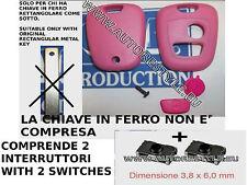 COVER GUSCIO CHIAVE +2 SWITCH TELECOMANDO CITROEN C1 C2 C3 ROSA (o altri colori)