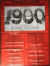 Affiche 1900 Bernardo Bertolucci ROBERT DE NIRO Gérard Depardieu 120x160cm *