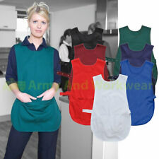 Hard Wearing Ladies Pocket Tabard Work Uniform Overall Catering Plain Apron Chef