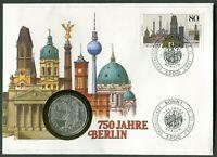Numisbrief BRD 10 DM 1987 Silber Motiv 750 Jahre Berlin