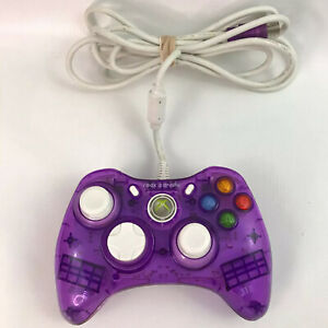 Xbox 360 Rock Candy Controller Wired Clear Purple PL-3760