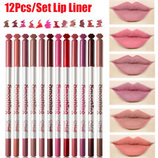 12 Colors Sexy Matte Lip Stick Lip Liner Pencil Pen Beauty Makeup Cosmetic Tool.