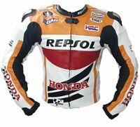 Bikers New Motorcycle Cowhide Leather Street Racing, Riding Motorbike Jacket