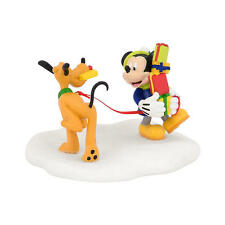 DISNEY VILLAGE Dept 56 Figurine Christmas Pluto MICKEY'S TANGLED TANGO NEW NIB
