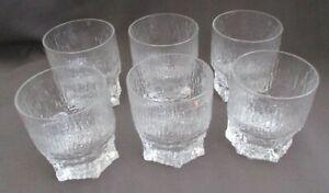 Ittala Aslak Tapio Wirkkala 6  Glasses Whisky Tumbler Finland