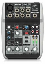 Behringer Xenyx Q502 USB Mischpult Analog Mixer USB Audio Interface XLR Mic EQ