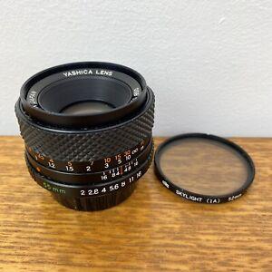 Vintage Yashica DSB 1:2 / 55mm Camera Lens with Filter Full Frame Mount