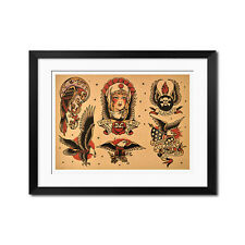 Sailor Jerry ROSE of No Man's LAND Old School Vintage Tattoo Flash Poster Print