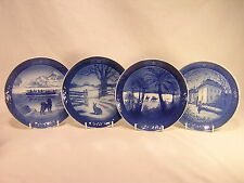 4 Royal Copenhagen Christmas Collector Plates ~ 1968 ~ 1971 ~ 1972 ~ 1975