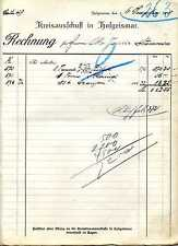 Rechnung Kreisausschuß in Hofgeismar Kreiskommunalkasse 1915 KI21348