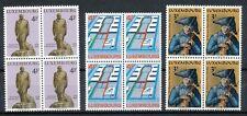 Luxemburg  884 - 886 postfrisse blokken van 4