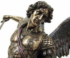 LARG Archangel- ST. Michael Standing Over Demon With Sword Statue Sculpture