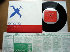 "ROMANIA ‎– Planes 7"" Single  TEENBEAT 150  US 1994 New Wave / Synth-Pop + insert"