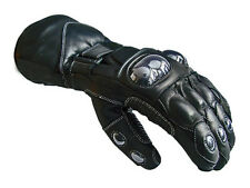 Winter Leather Thermal Lined Biker Motorbike Motorcycle Waterproof Gloves