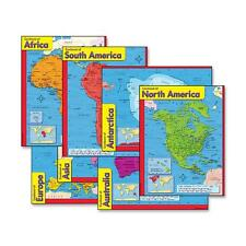 "Trend Continents Learning Charts 17""x22"" Multicolor 38930"