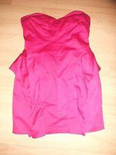 Women's ASOS size 10 pink sweetheart bandeau strapless dress zip back