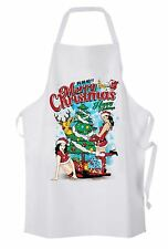 Sexy Merry Christmas Funny Chef's Kitchen Apron