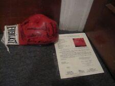 Muhammad Ali Basillo Pep Ortiz Torres Autographed Boxing Glove JSA Certified