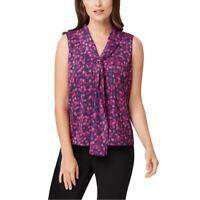 TAHARI ASL Women's Polka Dot Tie Neck Sheer Blouse Shirt Top TEDO