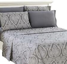 Deep Pocket 6 Piece Bed Sheet Set 1800 Series Egyptian Comfort Paisley Sheets
