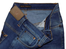 Nudie Tape Ted Immaculate Slim Tapered Fit Stretch Designer Jeans 30W 32L