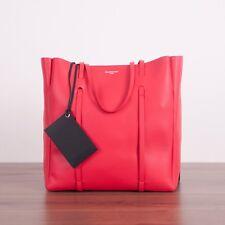 BALENCIAGA $1250 Red Leather Medium Everyday Tote Bag