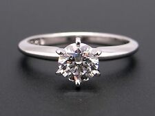 Platinum .81ct Round Diamond G VS2 Solitaire Engagement Ring Conflict Free GIA