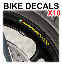 10X MARCHESINI FORGED MOTORCYCLE BIKE WHEEL STICKERS DECALS TAPE RIMS