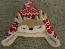 ABG Kids Reindeer Trapper Hat Red NWT Super Cute and Soft OSFM Target