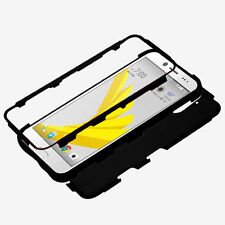 For HTC BOLT Phone Hybrid Rugged TPU Hard Shockproof Protective Case Cover BLACK