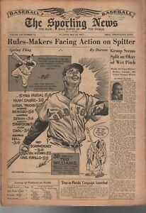 1957 The Sporting News 05/15/57 TSN Ted Williams Red Sox