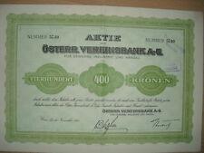 Österreichische Vereinsbank AG  Wien  1921