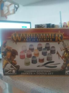 Warhammer Paint And Tools Set Age Of Sigmar 80-17 Brand New In Stock