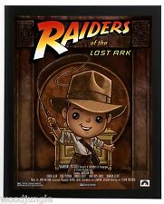 FRAMED RAIDERS OF THE LOST ARK INDIANA JONES  MOVIE POSTER  CHILD'S ROOM ART