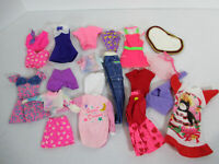 Doll Clothes Barbie Vtg 1980s Pants Pajamas Dress Tops Rug Pink Label 19pcs